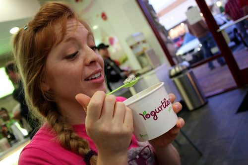 Monica is addicted to Yogurtland