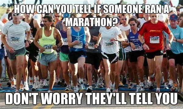 How can you tell if someone ran a marathon