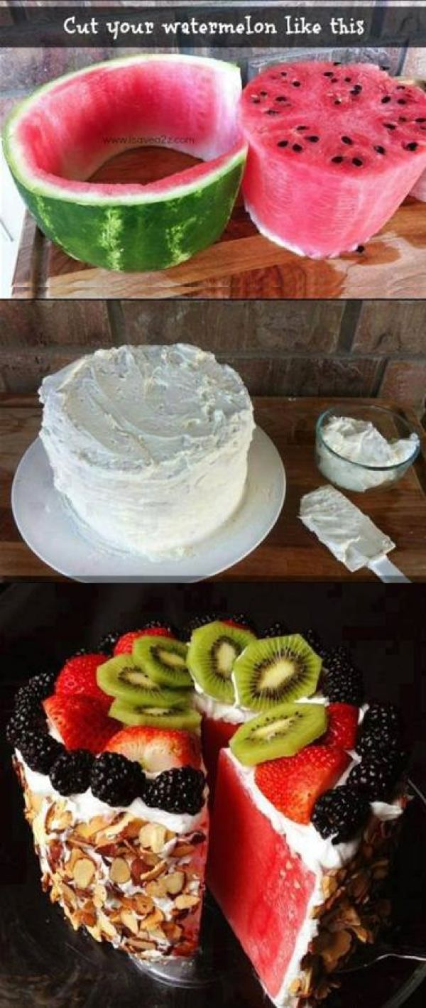 Healthy watermelon cake