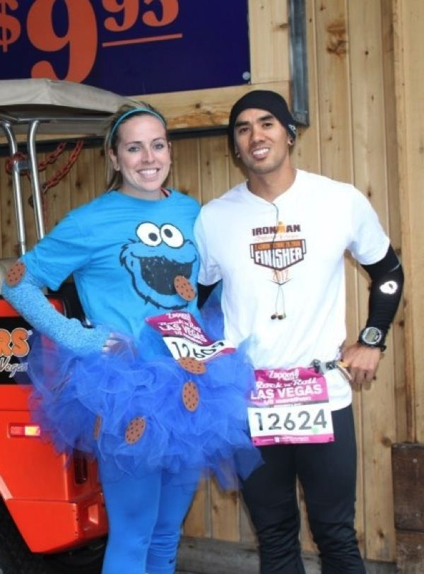 Kathy and her womenu0027s running group did the Great Pumpkin Run last weekendu2014u003e Colts Cheerleaders and Batman and Robin!  sc 1 st  The Hungry Runner Girl & The BEST Running Halloween Costumes! | The Hungry Runner Girl