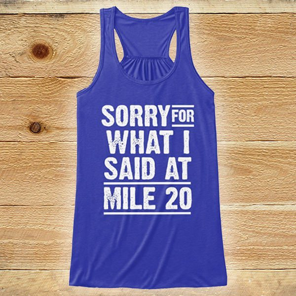 Your NEW favorite running shirt ever and doing the opposite