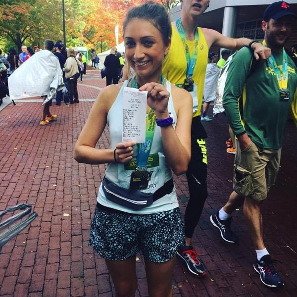 Mallory first marathon