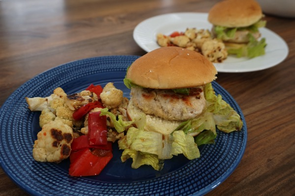 Blue Apron chicken burger